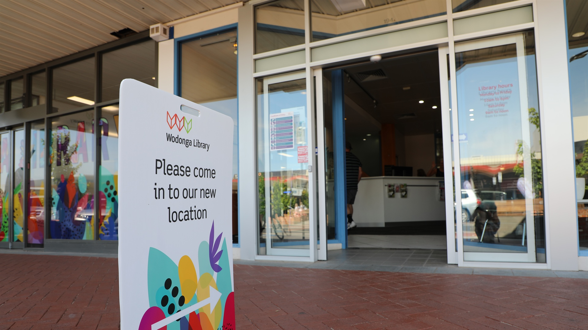 New look for Wodonga Library's temporary home